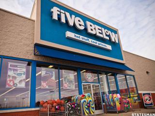 Five Below Falling Toward Earth