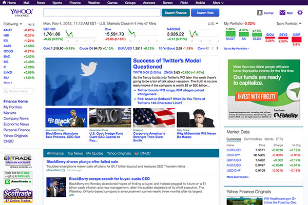 Yahoo Finance Gets A Fresh Feel Update 1