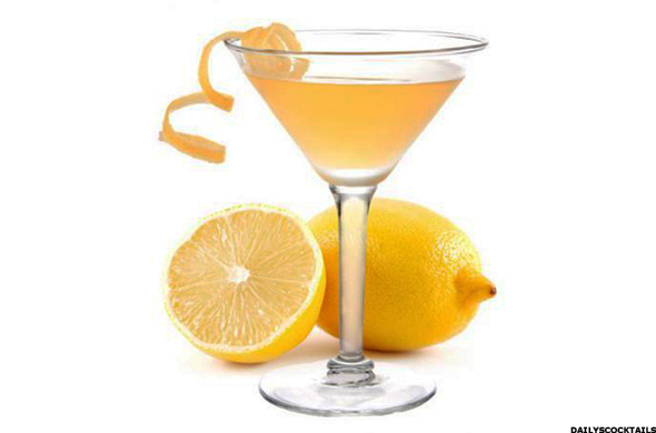 Lemon Drop Martini Vodka Drink