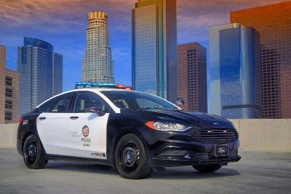 Here's a First Look at Ford's New Crime-Busting Hybrid Police Car