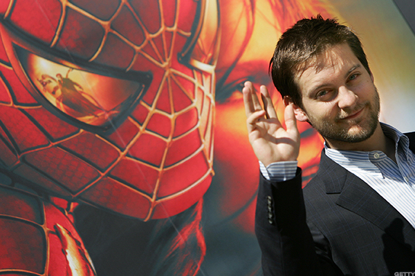 Tobey Maguire the first big screen Spider-Man