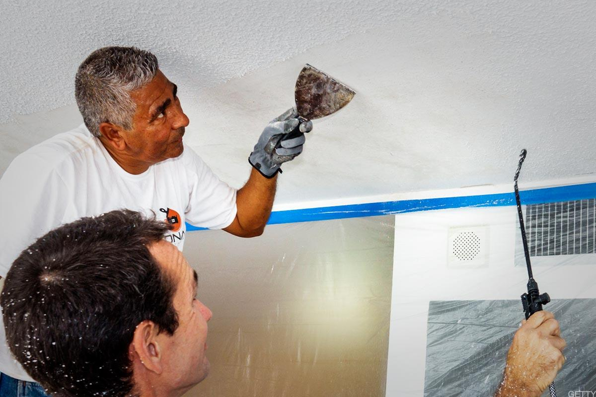 How to Remove a Popcorn Ceiling in Six Steps - TheStreet