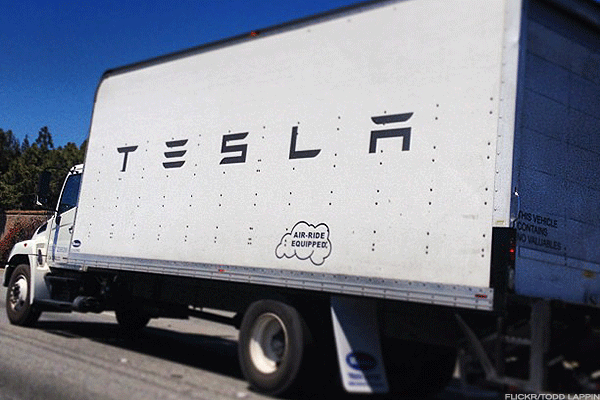 Tesla may test its unmanned trucks in Nevada""