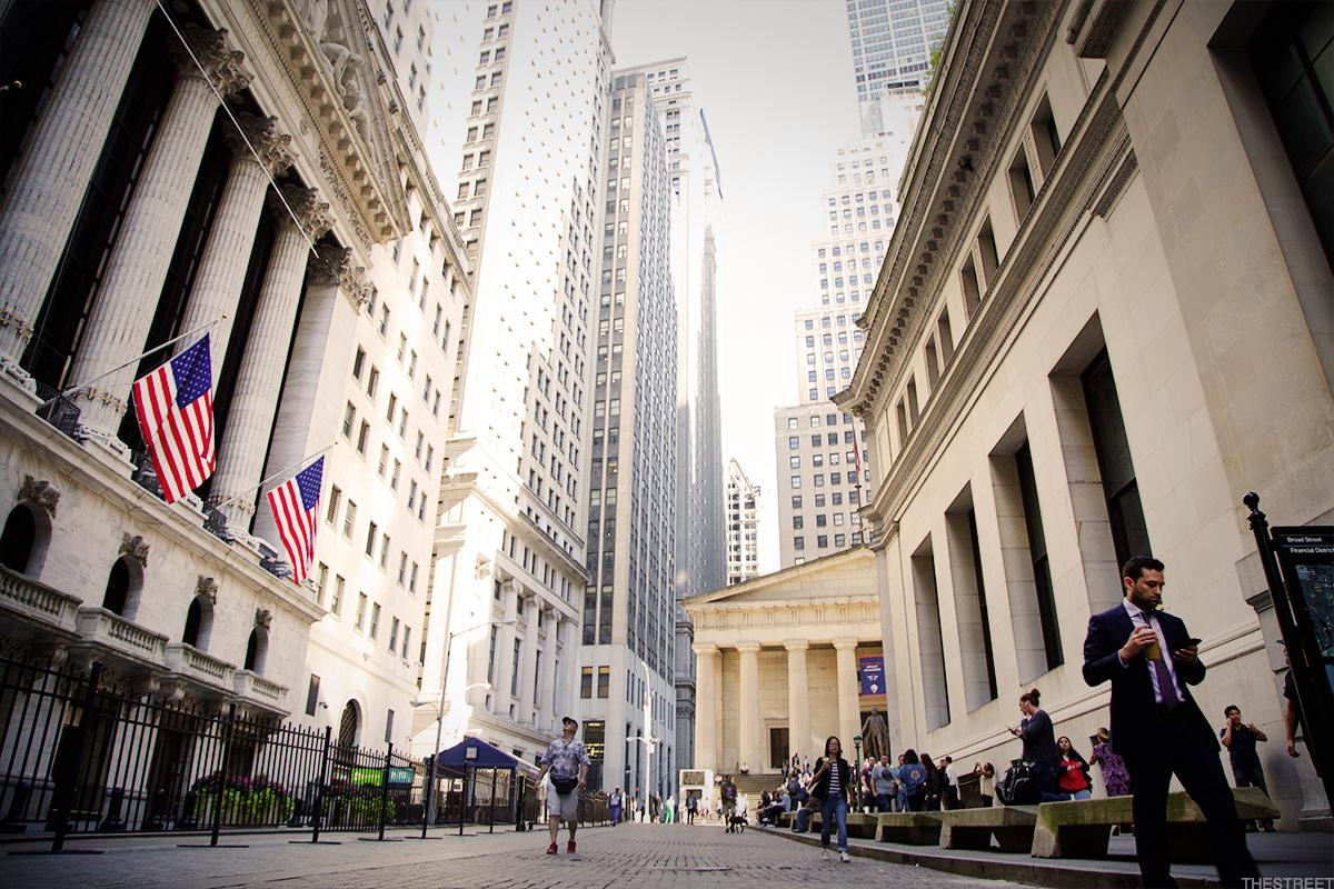 Dow Sp 500 End Lower Nasdaq Ekes Out Gain As Rates Ease Thestreet