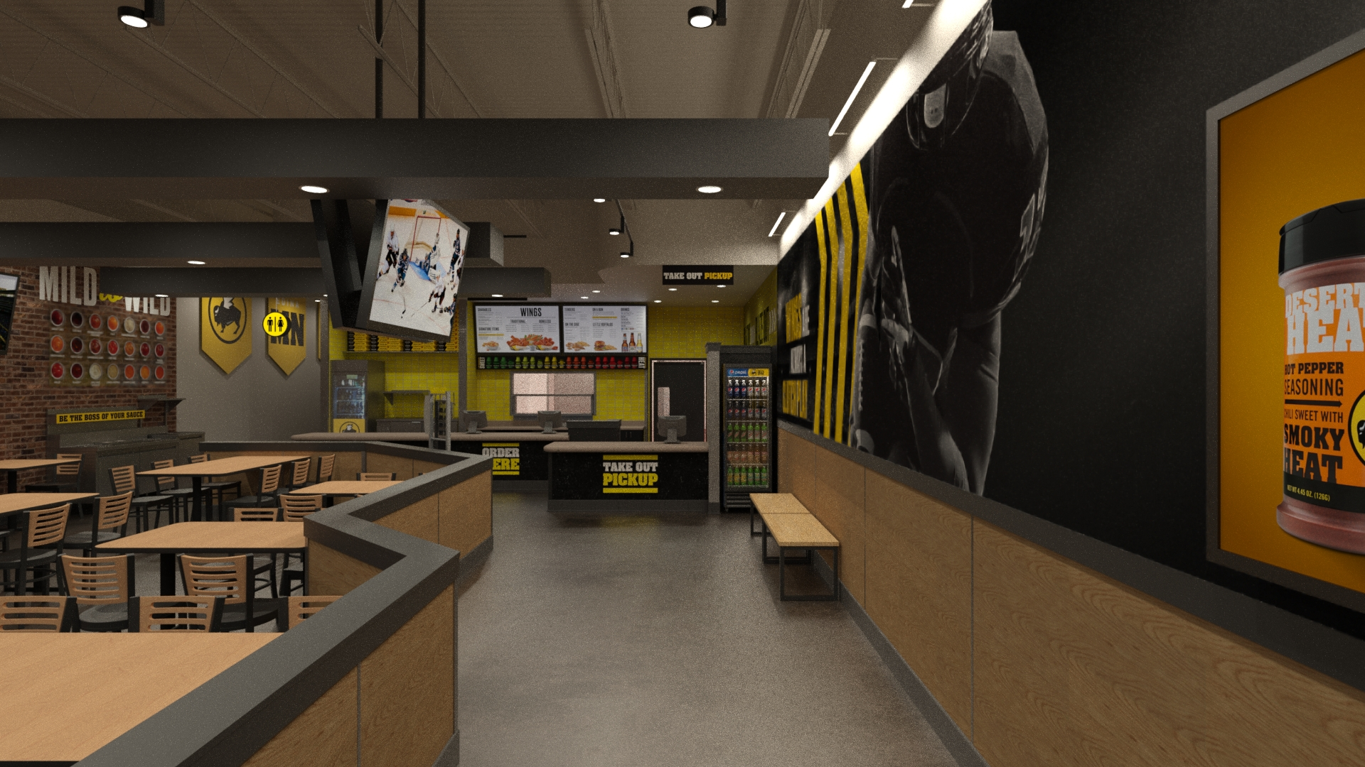 70e56f1eb6b Buffalo Wild Wings Experiments With Smaller-Format Stores to Woo Back  Millennials