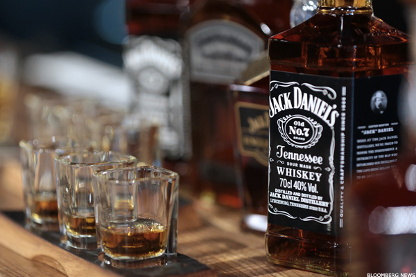 Brown forman 39 s profits pour in helped by jack daniels whiskey thestreet for Photos jack daniels