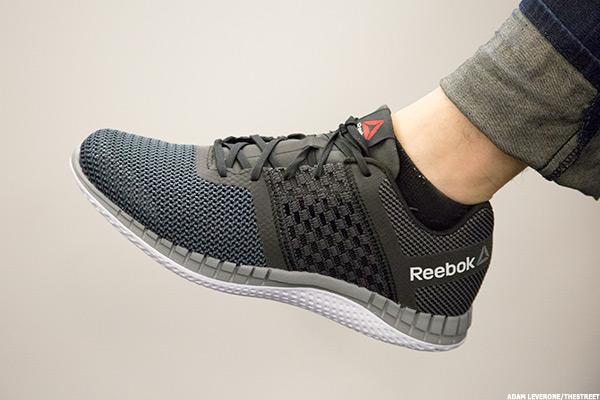 8e19ec43bb8d Watch Reebok Use 3-D Technology to Make a Sneaker Out of Liquid - TheStreet