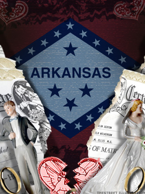 <b>6th Highest Divorce Rate: Arkansas (Tie)</b>