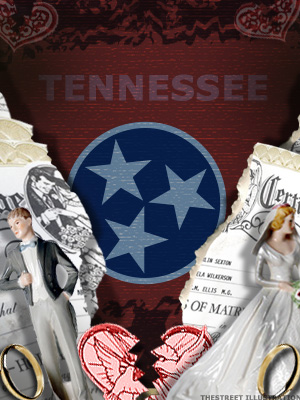 <b>6th Highest Divorce Rate: Tennessee (Tie)</b>