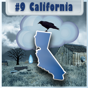 9th Most-Depressed State: California