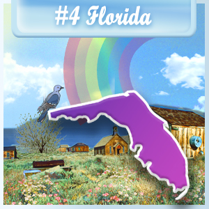 4th Least-Depressed State: Florida