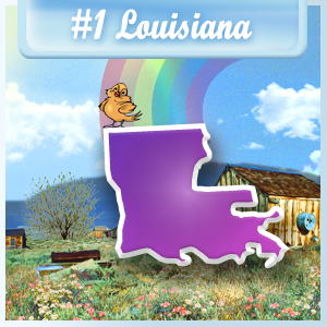 The Least Depressed State: Louisiana