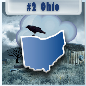 2nd Most-Depressed State: Ohio
