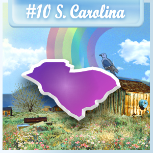 10th Least-Depressed State: South Carolina