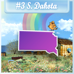 3rd Least-Depressed State: South Dakota