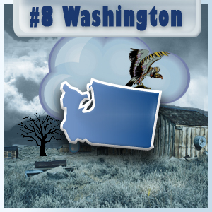 8th Most-Depressed State: Washington