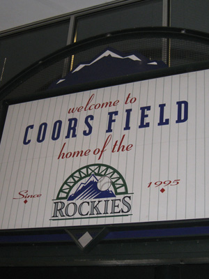 10th Least Expensive Ballpark: Coors Field, Colorado Rockies