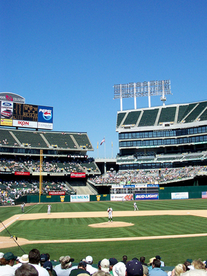 5th Least Expensive Ballpark: Oakland Coliseum, Oakland Athletics