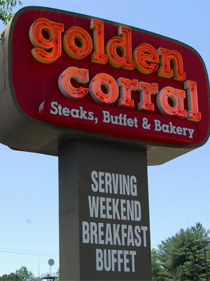 <b>3rd Best Restaurant Job (Tie): Golden Corral</b>