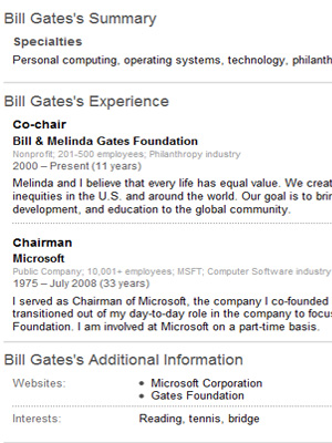 Perfect U003cbu003eBill Gatesu003c/bu003e In Bill Gates Resume
