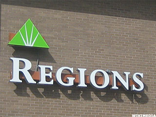 Regions Shares Rise After Modest Earnings Beat
