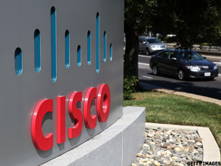 Cisco's Chambers Delivers, and the Shares Surge
