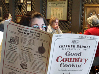 Biglari Eager To Be Seated at Cracker Barrel