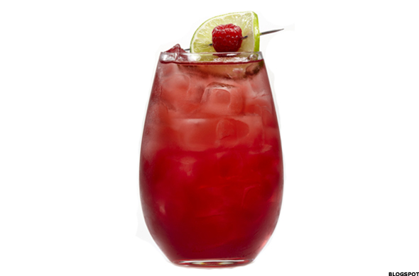 Light Pomegranate Berry Punch Vodka Drink