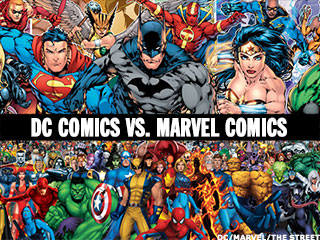 Biff! Pow! Marvel and DC Comics Battle for 2016