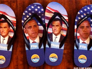 Obama and Romney Are Flip-Floppers, Literally