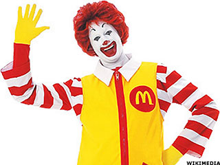 can tv commercial icon ronald mcdonald save the golden arches
