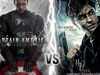 Harry Potter Takes On Captain America