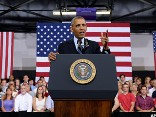 Obama Says Forget Record Stocks, America Still Struggling