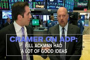 Jim Cramer on ADP: Bill Ackman Had a Lot of Good Ideas