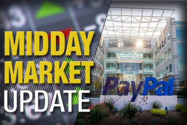 Midday Report: PayPal Down on Apple Talk; Stocks Slip on Fedspeak