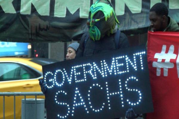 Activists Swarm Goldman Sachs HQ to Reject Trump's Cabinet Appointees