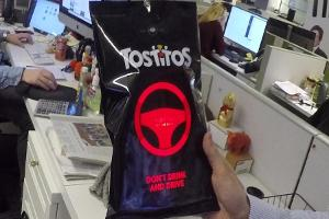 Pepsi Created a Tostitos Bag That Will Tell You if You Are Drunk