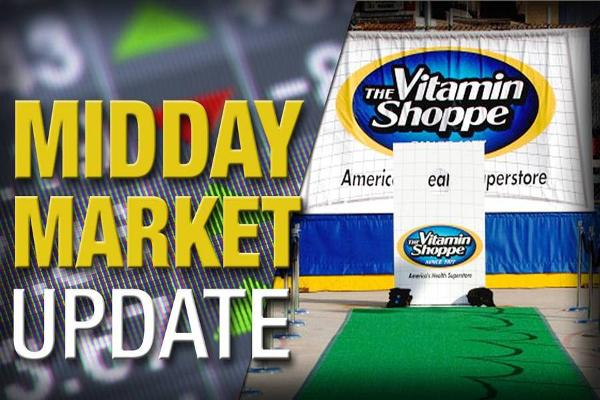 Midday Report: Vitamin Shoppe Falls; U.S. Stocks Slump on Confidence