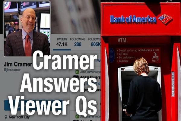 Jim Cramer Buying Shares of Bank of America, PayPal, Likes Google