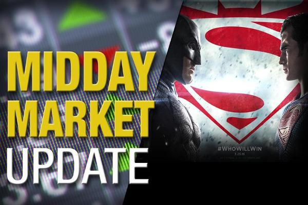 Midday Report: 'Batman vs. Superman' Rules Box Office; U.S. Stocks Flat