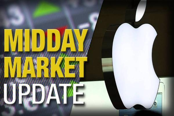 Midday Report: Apple to Pay $450M in E-Book Case; U.S. Stocks Mixed