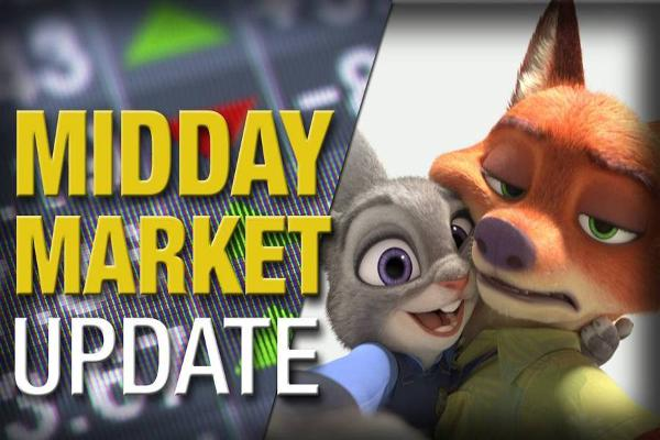 Midday Report: 'Zootopia' Tops Box Office; Stocks Mixed on Crude