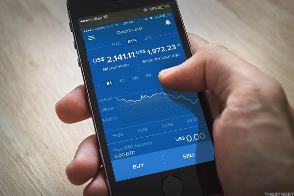 Users can buy, trade and store digital currencies like bitcoin on the Coinbase app.