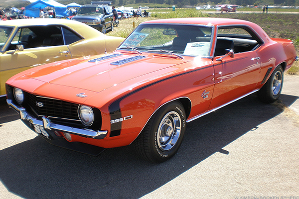 10. 1969 Chevrolet Camaro coupe