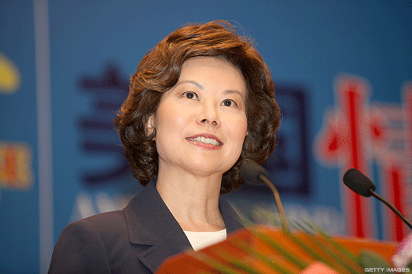 Airlines and Their Unions Welcome Elaine Chao: She 'Knows How to Be a Bureaucrat'