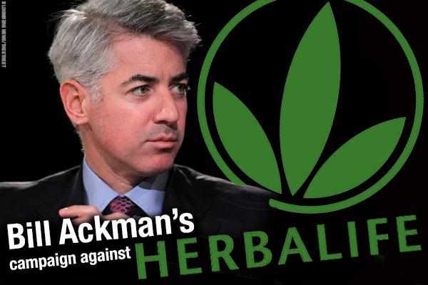 Herbalife shares drop in wake of latest Ackman-Icahn tussle