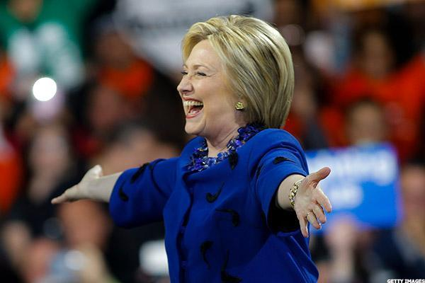 Democratic Convention Delivers Bump for Hillary Clinton's Poll Numbers and Stock Portfolio