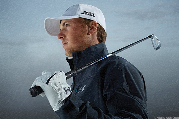 Product and celebrity: golfer Jordan Spieth wearing new Threadborne material