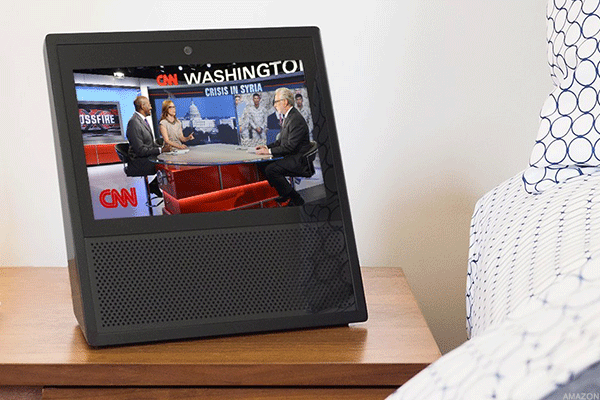 The Echo Show allows users to view video flash briefings from CNN, as well as other content.