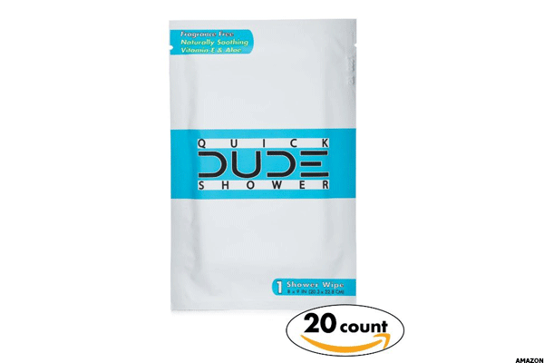12. Quick Dude Shower Body Wipes